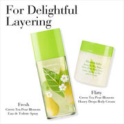 For Delightful Layering, Fresh Green Tea Pear Blossom Eau De Toilette Spray Plus Flirty Green Tea Pear Blossom Honey Drops Body Cream