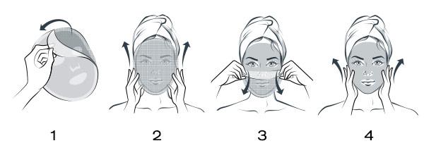 SUPERSTART Probiotic Boost Skin Renewal Biocellulose Mask Application