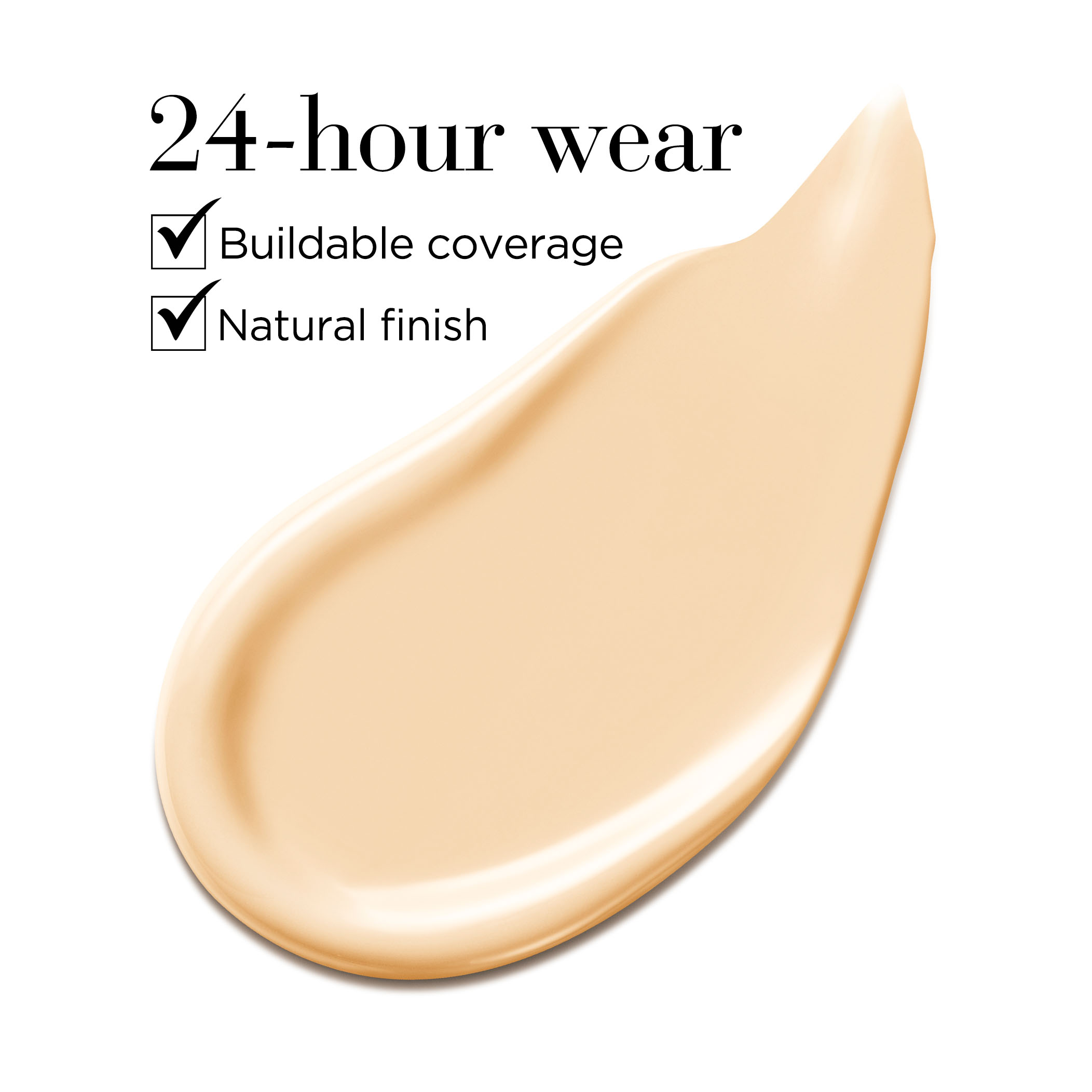 24-hour wear buildable coverage natural finish